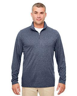Mens Cool & Dry Heathered Performance Quarter-Zip-UltraClub