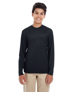 Youth Cool & Dry Performance Long-Sleeve Top-UltraClub