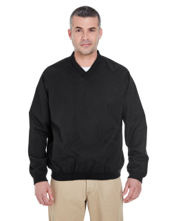 Adult Long-Sleeve Microfiber Crossover V-Neck Wind Shirt-