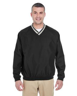 Adult Long-Sleeve Microfiber Crossover V-Neck Wind Shirt-