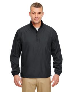 Adult Micro-Poly Quarter-Zip Wind Shirt-UltraClub