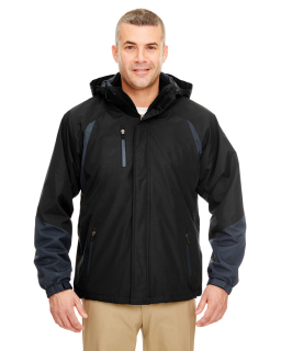 Adult Colorblock 3-In-1 Systems Hooded Jacket-UltraClub