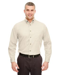 Adult Cypress Long-Sleeve Twill With Pocket-UltraClub