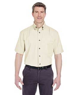 Adult Cypress Short-Sleeve Twill With Pocket-UltraClub