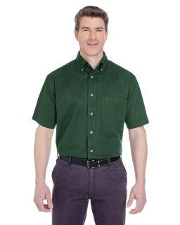 Adult Cypress Short-Sleeve Twill With Pocket-UltraClub