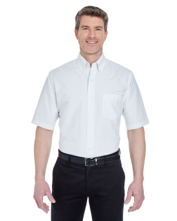 Mens Classic Wrinkle-Resistant Short-Sleeve Oxford-