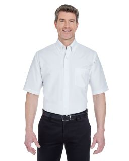 Mens Tall Classic Wrinkle-Resistant Short-Sleeve Oxford-UltraClub