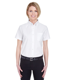 Ladies Classic Wrinkle-Resistant Short-Sleeve Oxford-