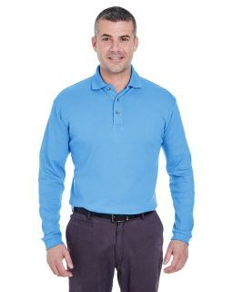 Mens Egyptian Interlock Long-Sleeve Polo-
