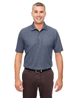 Mens Heathered Pique Polo-