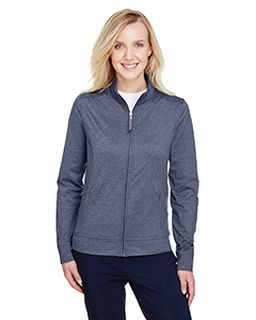 Ladies Navigator Heather Performance Full-Zip-UltraClub