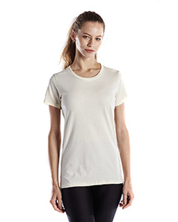 Ladies 4.5 Oz. Short-Sleeve Garment-Dyed Jersey Crew-