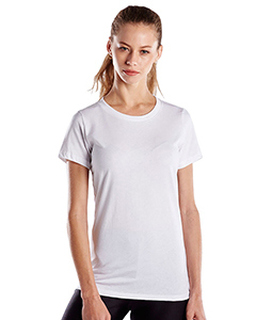 Ladies 5.8 Oz. Short-Sleeve Recover Yarn Crewneck-