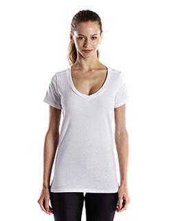 Ladies 4.3 Oz. Organic Cotton Short-Sleeve V-Neck-US Blanks