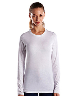 Ladies 4.3 Oz. Long-Sleeve Crewneck