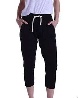 Ladies 2x1 Ribbed Capri Sweatpant