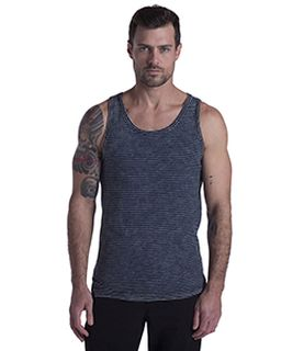 Mens Indigo Striped Tank-