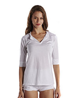 Ladies 3.5 Oz. Elbow Sleeve Footie Tee
