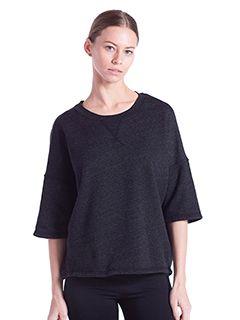 Ladies Open Cross Back Drop Shoulder Sweatshirt-