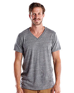 Mens 4.9 Oz. Short-Sleeve Triblend V-Neck-