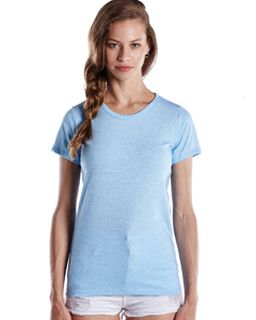 Ladies Short-Sleeve Triblend Crew-