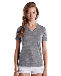 Ladies 4.9 Oz. Short-Sleeve Triblend V-Neck-US Blanks
