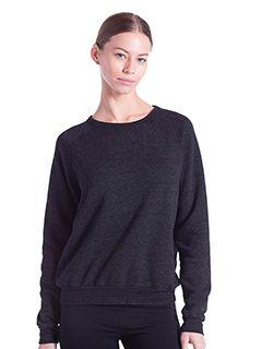 Ladies Raglan Pullover Long Sleeve Crewneck Sweatshirt