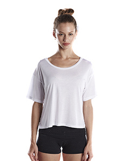 Ladies 4.2 Oz. Boxy Open Neck Top-US Blanks