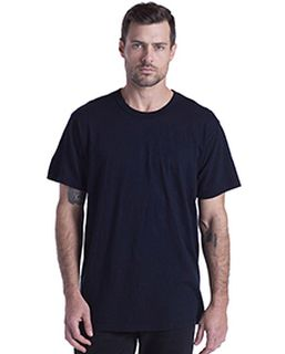 Mens Short-Sleeve Slub Crewneck T-Shirt Garment-Dyed-