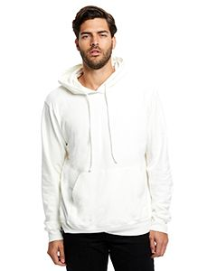 Mens 100% Cotton Hooded Pullover Sweatshirt-