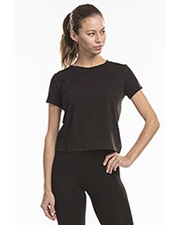 Ladies Short Sleeve Crop T-Shirt-US Blanks