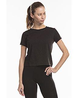 Ladies Short Sleeve Crop T-Shirt-US Blanks