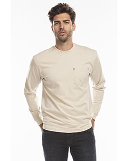 Mens Flame Resistant Long Sleeve Pocket T-Shirt-