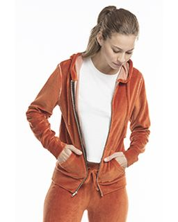 Ladies Velour Full-Zip Hoodie-US Blanks
