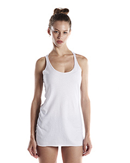 Ladies 3.5 Oz. Raw Edge Racer Tank-US Blanks