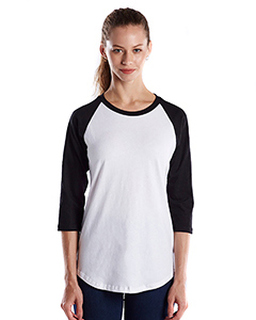 Ladies 4.3 Oz., 3/4-Sleeve Baseball Raglan-