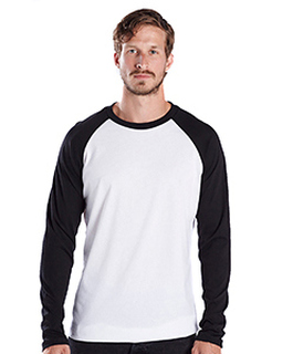 Mens 4.3 Oz. Long-Sleeve Triblend Baseball Raglan-