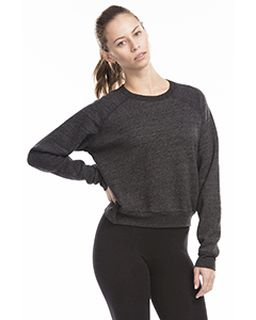 Ladies Sponge Fleece Crop Top-
