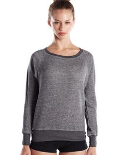 Ladies French Terry Raglan Boat Neck-