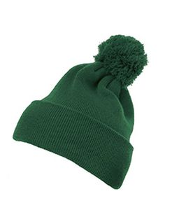 Cuffed Knit Beanie With Pom Pom Hat-