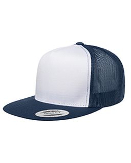 Adult Classic Trucker With White Front Panel Cap-