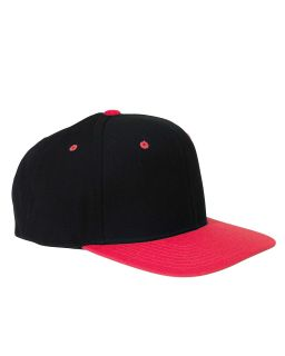 Adult 6-Panel Structured Flat Visor Classic snapback-Yupoong