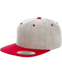 Adult 6-Panel Structured Flat Visor Classic Two-Tone Snapback-Yupoong