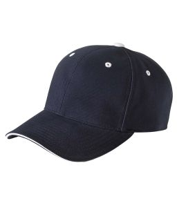 Adult Brushed Cotton Twill 6-Panel Mid-Profile Sandwich Cap-