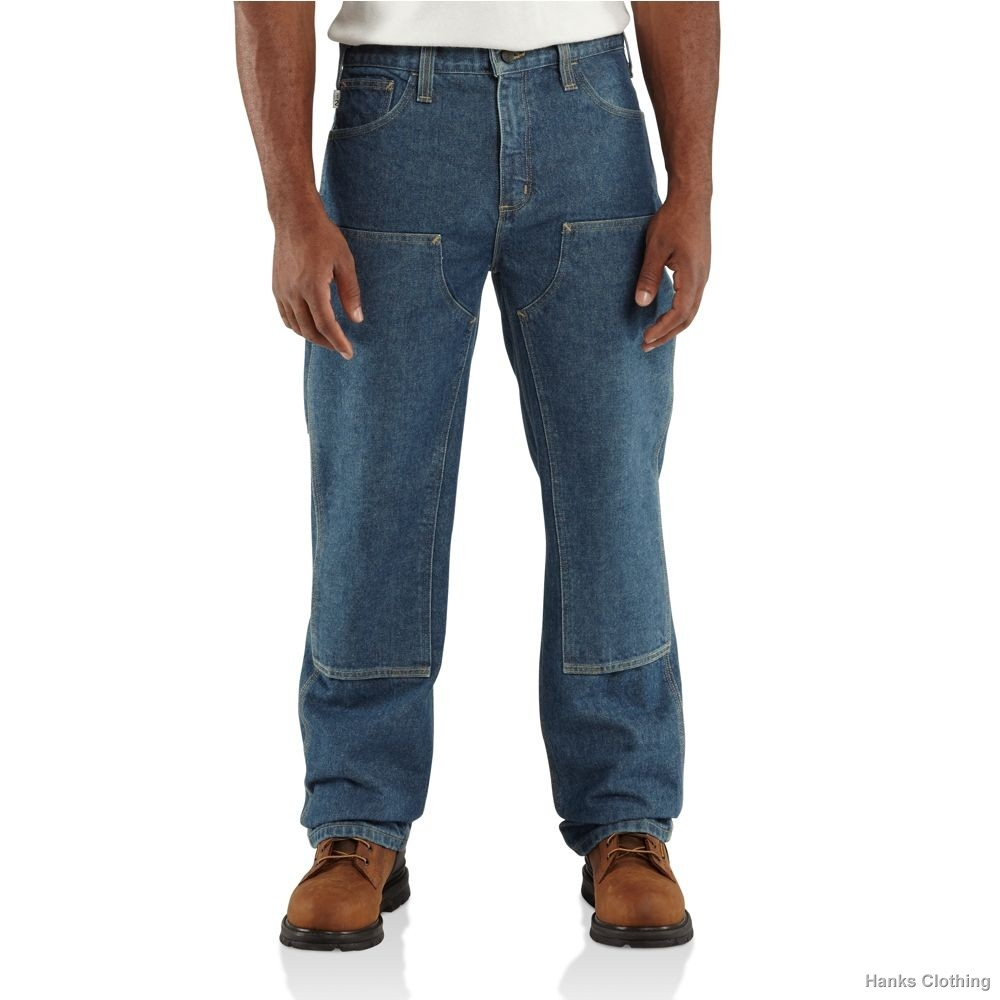 CARHARTT MEN'S FR UTILITY DENIM DOUBLE-FRONT JEAN - RELAXED FIT-