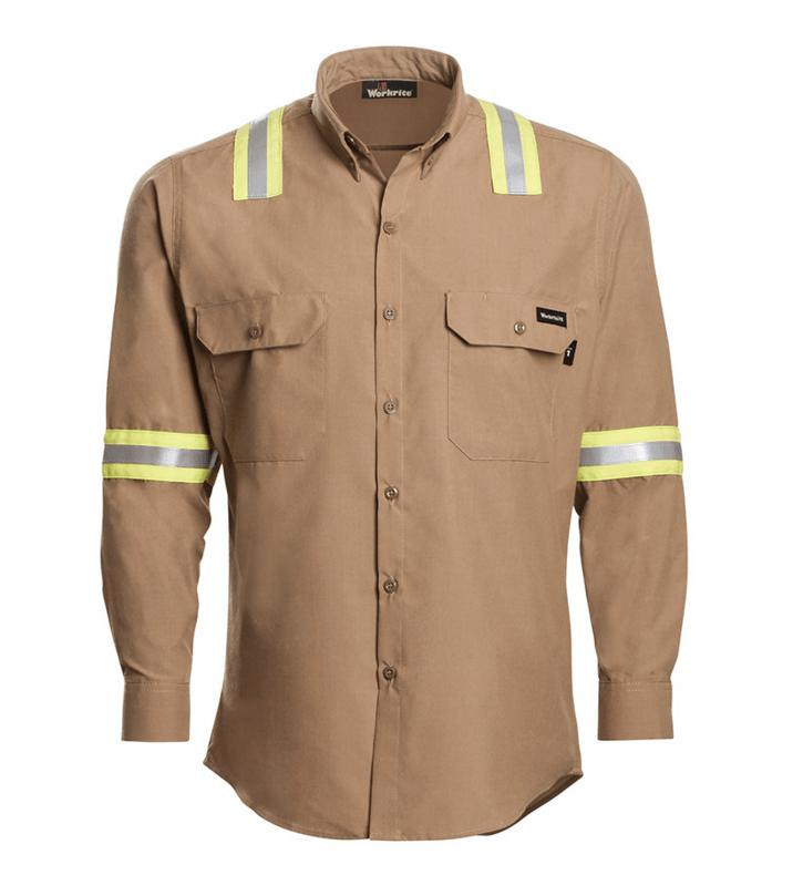 Workrite FR -  GlenGuard™ - Button-Down Dress Shirt W/ Tape -