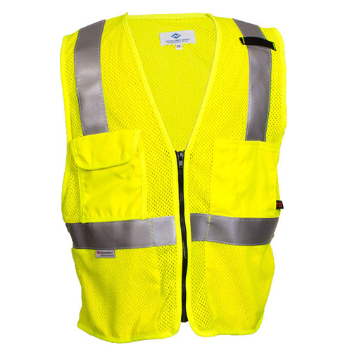 FR HI-VIS DELUXE ROAD VEST-National Safety Apparel