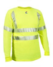 NSA FR Control 2.0 Hi-Vis Long Sleeve T-Shirt With 3M FR Segmented Trim-