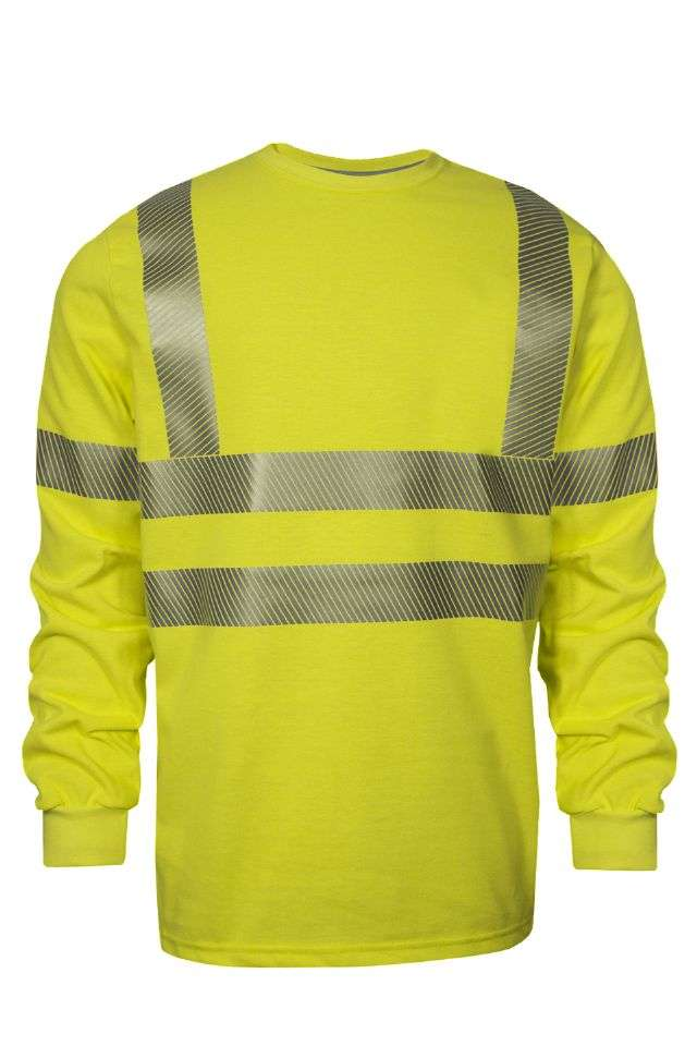 VIZABLE FR HI-VIS LONG SLEEVE T-SHIRT - TYPE R CLASS 3-National Safety Apparel