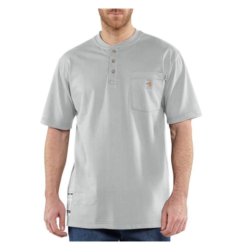 Carhartt Men's FR Force Cotton Short-Sleeve Henley-Carhartt